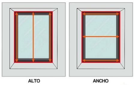 Medir hueco ventana para mosquitera enrollable