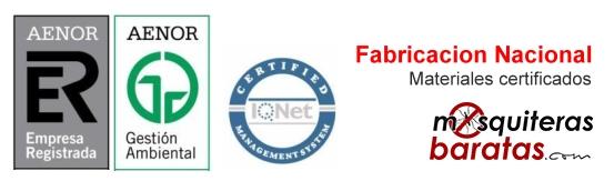 Mosquiteras enrollables certificado de calidad
