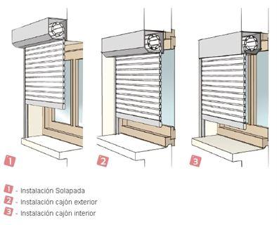 Persiana con cajon exterior color blanca sin obras - Como colocar la cuerda de una persiana ...