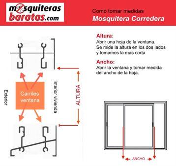Mosquiteras correderas fabricadas a medida for Mosquiteras fijas a medida