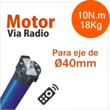 ELECTRÓNICO RADIO INTEGRADO MOTOR TUBULAR VIA RADIO DIAMETRO Ø35mm (10N.m/18Kg)