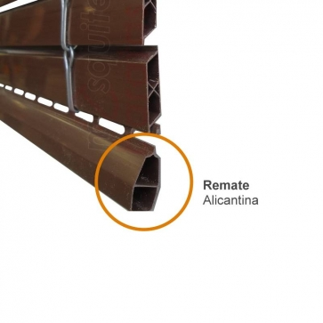 remate persiana alicantina plastico