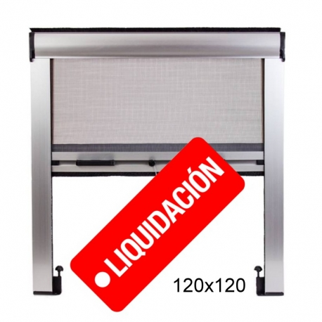 Mosquitera Enrollable 120X120 Ajustable Color Aluminio