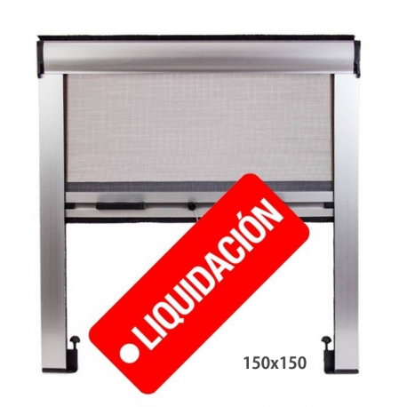 Mosquitera Enrollable 150X150 Ajustable Color Plata