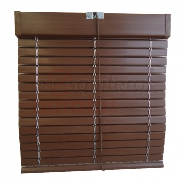 Persiana Alicantina Exterior PVC Nogal
