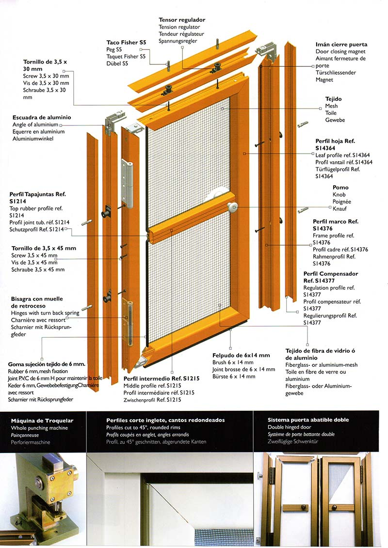 Ajustar bisagras puerta pvc top montaje with ajustar - Como hacer una puerta mosquitera abatible ...