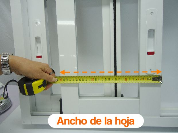 como medir mosquiteras correderas