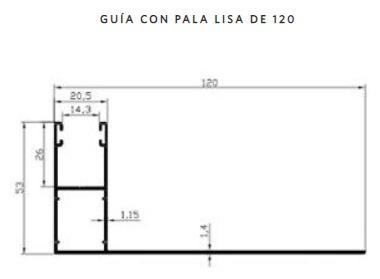 Guia-aluminio-pala-lisa-120