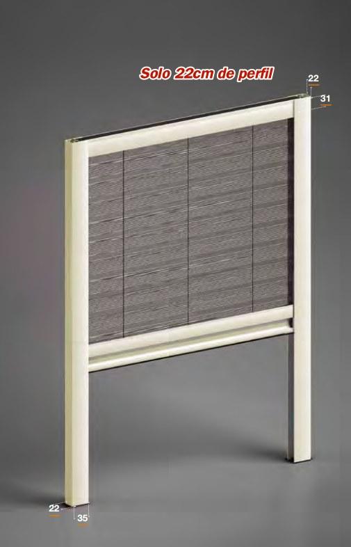 Mosquitera ventanas tela plisada