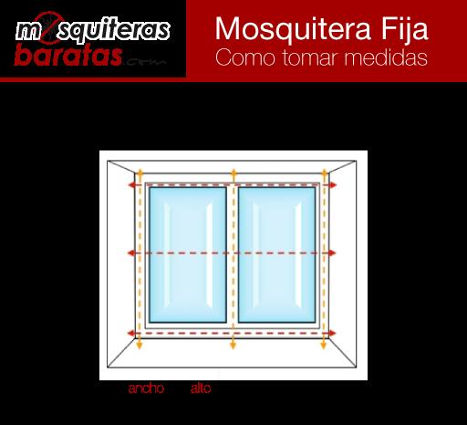 Como tomar medidas para mosquiteras fijas de aluminio