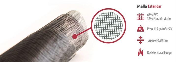 Rollo tela mosquitera fibra de vidrio ancho 120 cm largo - Tela para mosquitera ...