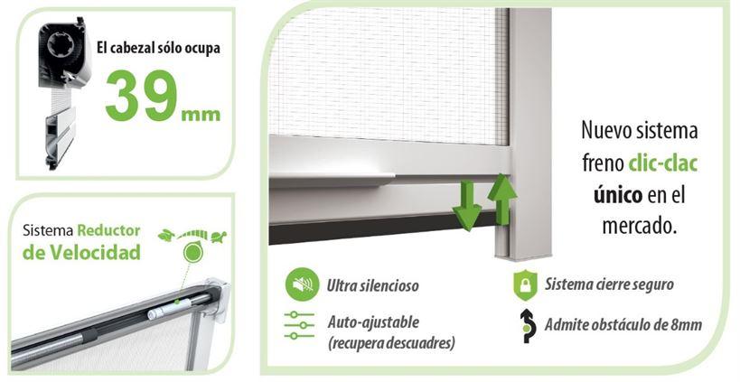 Mosquitera enrollable de aluminio swingplus tela anti polen for Mosquitera por metros
